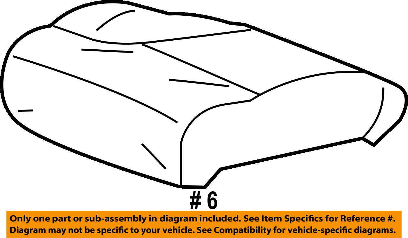 Left Front Honda Genuine 81531-TR3-L71ZB Seat Cushion Trim Cover