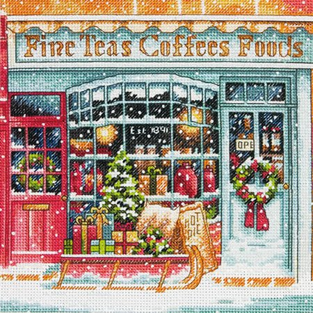 Dimensions Coffee Shoppe Cross Stitch Kit