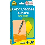 School Zone - Colors, Shapes & More Flash Cards - Ages 4 and Up, Preschool to Kindergarten, Pictures, Numbers, Rhyming Words,