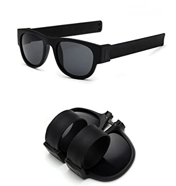 f0bc5c2c97 Foldable Sunglasses - Fashion Fdlding Sunglasses Slap and Clip On Wrist