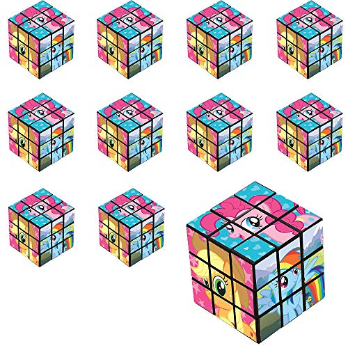 Party City My Little Pony Puzzle Cubes 24 Count, Birthday Party Favors for Kids, Plastic, 1 1/8