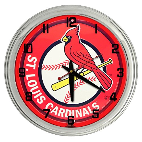 Redeye Laserworks Saint Louis Cardinals Red Neon Clock from