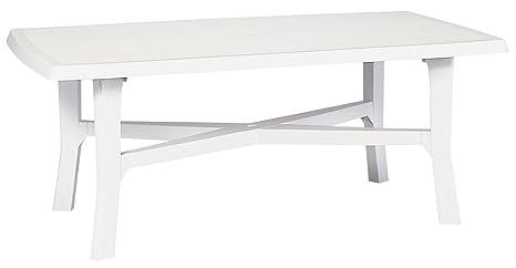 Tavolo Giardino Plastica Bianco.Ipae Progarden S P A Tavolo Senna Rettangolare In Resina Bianco