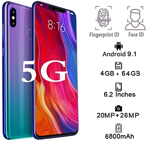 FLKENNEL 5G Smartphone, 10 GB de RAM 128 GB ROM Dual SIM 6.4 ...