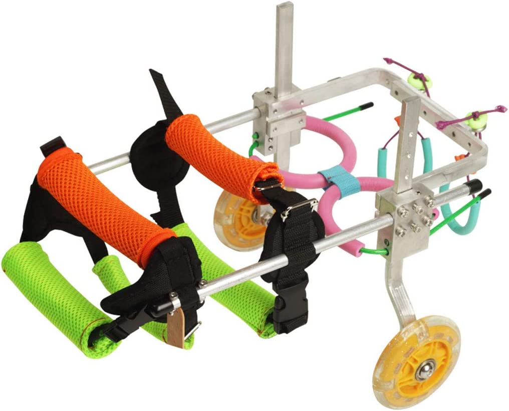Silla de ruedas para perros, silla de ruedas para perros ajustable para patas delanteras y traseras, silla de ruedas para discapacitados, silla de paseo para perros Arnés para sillas de ruedas, soport