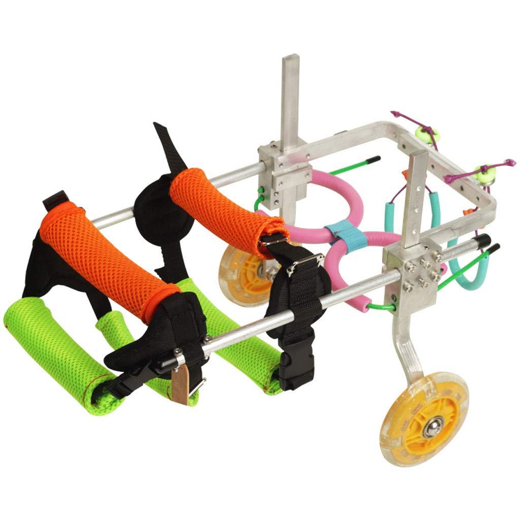 Silla de ruedas para perros, silla de ruedas para perros ajustable para patas delanteras y traseras, silla de ruedas para discapacitados, silla de paseo ...