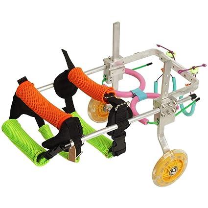 Silla de ruedas para perros, silla de ruedas para perros ajustable para patas delanteras y