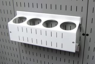 product image for Wall Control Pegboard Spray Can Holder Bracket and Aerosol Can Organizer for Wall Control Pegboard and Slotted Tool Board – White