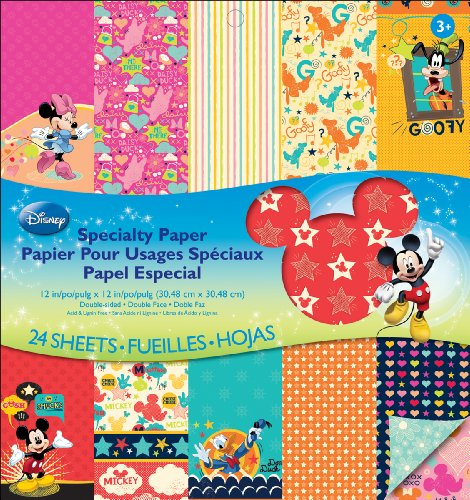 EK Success Disney Specialty Paper Pad, Mickey (Disney Minnie Mouse Scrapbook)