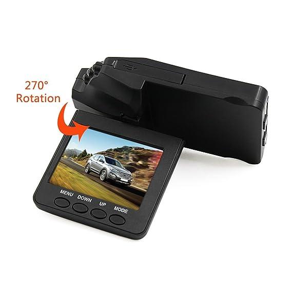 ... HD 1080P 120 Gran Angular 270 grados de rotación Cámara de coches conducción del Video w visión nocturna de detección de movimiento de grabación de ...