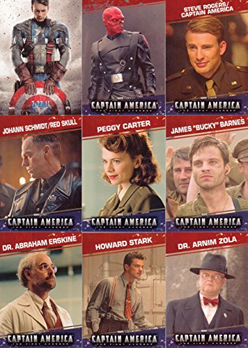 CAPTAIN AMERICA THE FIRST AVENGER MOVIE 2011 UPPER DECK COMPLETE BASE CARD SET OF 99 MARVEL