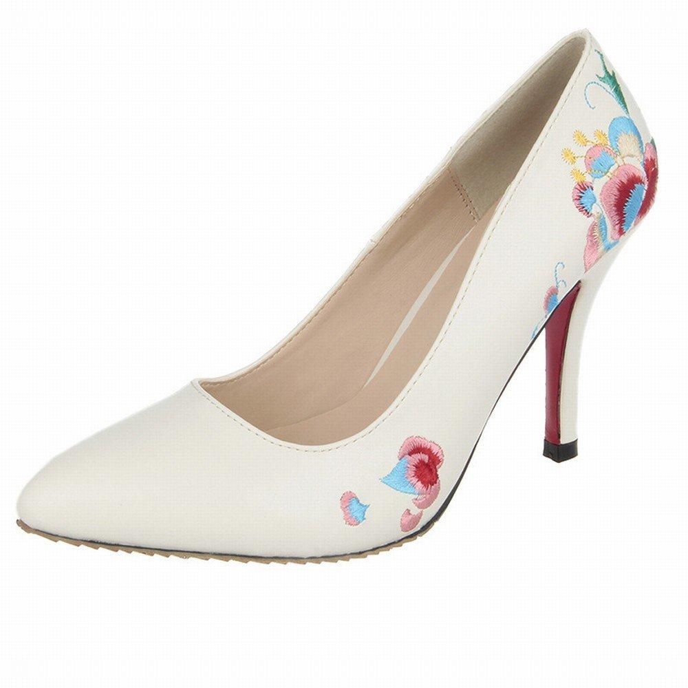 DHG Frauen Schuhe Schuhe Frauen Frühling Modelle High Heels Guangzhou Frauen Schuhe Ethnischen Stil Damen Schuhe Gut mit der Marke Bestickt Schuhe,Polieren,38 - 231152