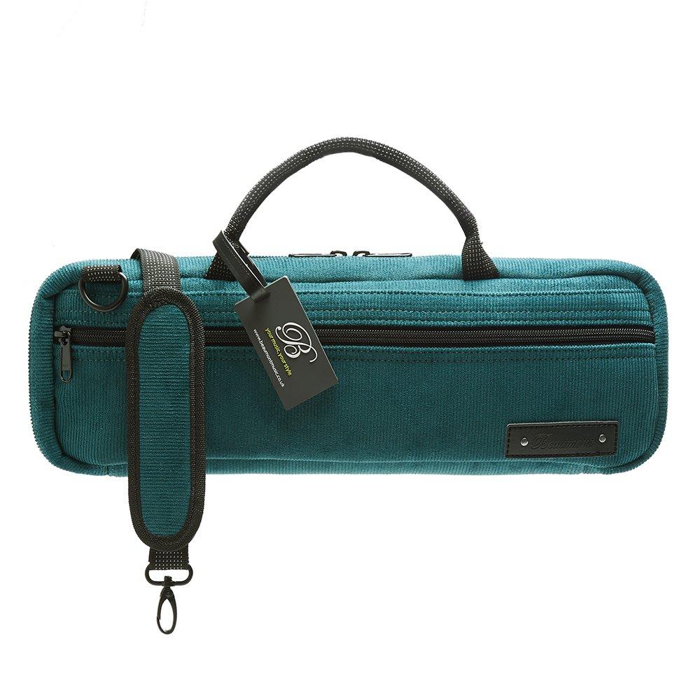 Flute Case Cover - Beaumont C-Foot Flute Bag - Teal - Corduroy by Beaumont (Image #1)