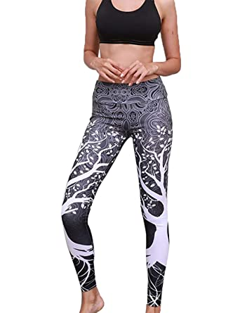 d6bd2514be5be Image Unavailable. Image not available for. Color: Sasarh Lightweight Pants  Workout Running Jogger Yoga Control Workout Printed Yoga Capri Pants Black  Gray