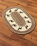 The Lakeside Collection Themed 20x30'' Braided Accent Rug - Deer