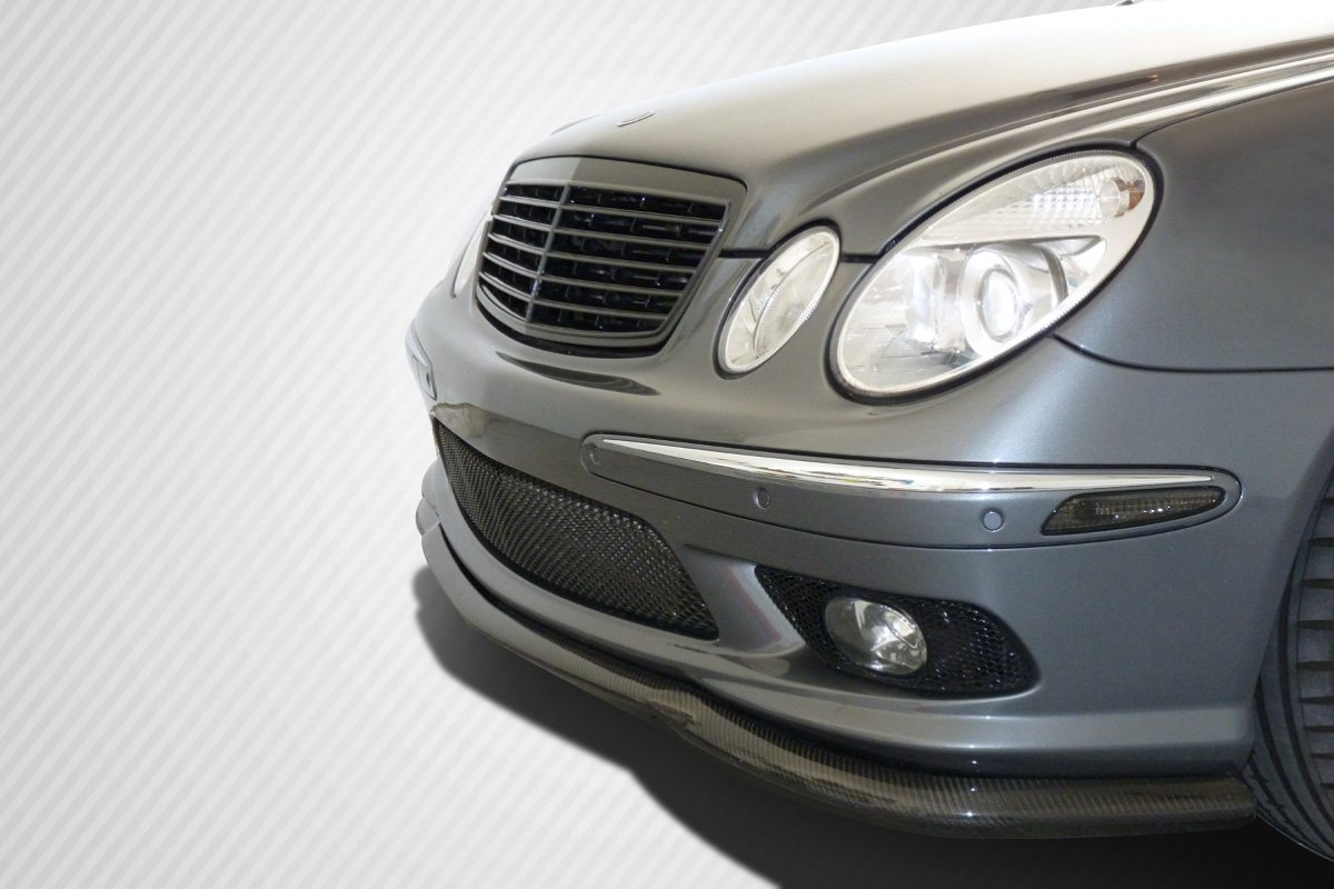1 Piece Carbon Creations Replacement for 2003-2006 Mercedes E55 W211 L-Sport Front Lip Under Spoiler Air Dam