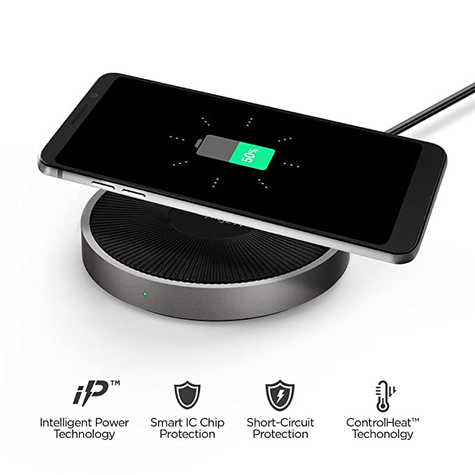 best service d492b c6c11 Spigen Essential F306W Fast Wireless Charger [15W] [Quick Charge 3.0 Power  Adaptor, Cable Inclus] Fast Wireless Charging Station Compatible with ...