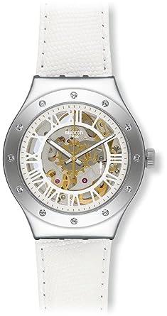 Swatch Reloj Digital para Unisex de Automático con Correa en Acero Inoxidable YAS109: Amazon.es: Relojes