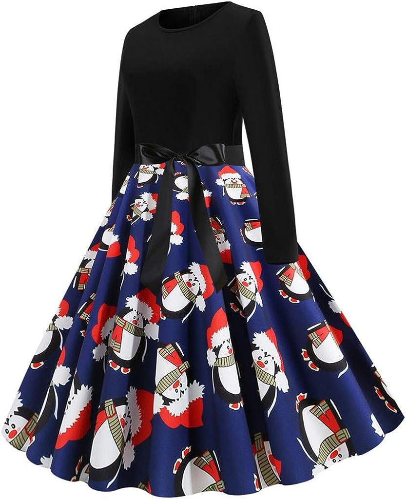 Darringls Vestidos para Mujer Navidad, Vestido Largo Floral Print ...