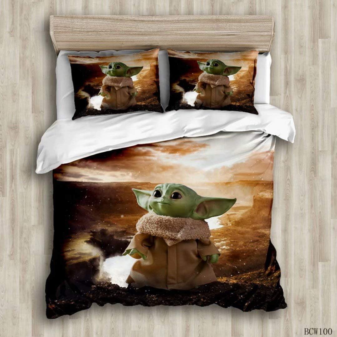 The Mandalorian Baby Yoda 2 Piece Twin//Full Comforter NEW Star Wars