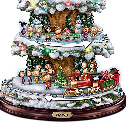 Peanuts Christmas Tree.Bradford Exchange A Peanuts Christmas Tabletop Christmas Tree With Lights Music And Motion