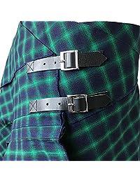 3 bolsillos de tartán a cuadros con pañuelo en 2 colores tradicionales escoceses