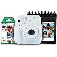 Kit com Câmera, Filme 10 Poses e Porta Fotos, Fujifilm, INSTAX MINI9, Branco Gelo