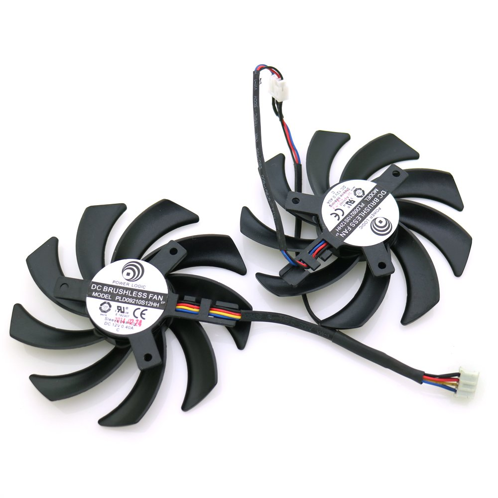 Replacement Video Card Cooling Fan For R9 280X 270X 290X Graphics Card Fan PLD09210S12HH 12V 0.4A 86mm 4 Pin