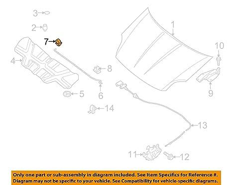 2004-2012 Nissan Quest Sentra Hood Prop Rod Anchor Clip Grommet OEM on