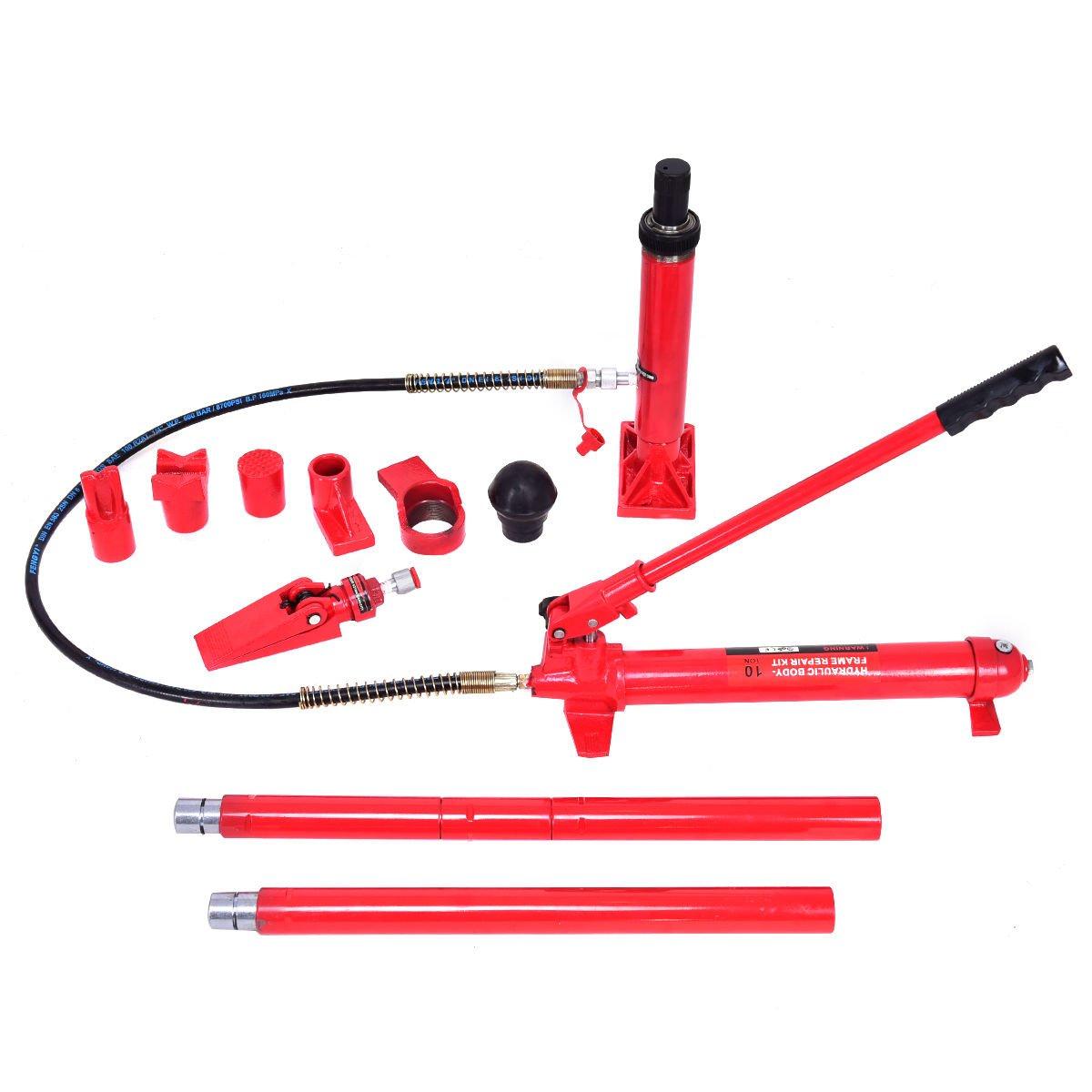 Goplus Porta Power Hydraulic Jack Auto Body Frame Repair Kit Shop Tool Lift Ram w/Carrying Case, 10 Ton Capacity by Goplus (Image #3)