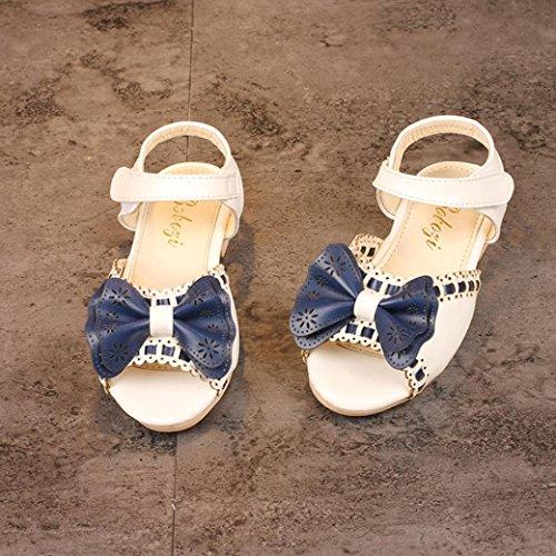 Prevently Mädchen Sandalen Mädchen Fischkopf Bow Lace Sandalen Prinzessin Schuhe Kinder Kind Mädchen Welle Bowknot Prinzessin Sandalen Hochzeit Freizeitschuhe Weiß