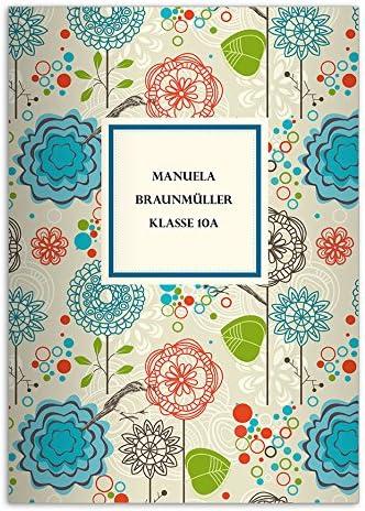 Schreibhefte liniertes Heft blau Lineatur 9 Kartenkaufrausch 4 fr/öhliche Flower Power DIN A5 Schulhefte