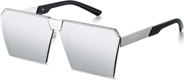 Oversized Square Mirrored Sunglasses Oversized Shield Vintage Sunglasses for Women