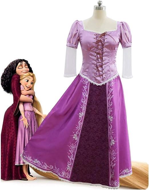 SHIXUE Disfraz Cosplay Rapunzel Anime De Halloween Adulto Disfraz ...