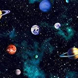 Arthouse, Kids Cosmos Space Planets Wallpaper, Charcoal