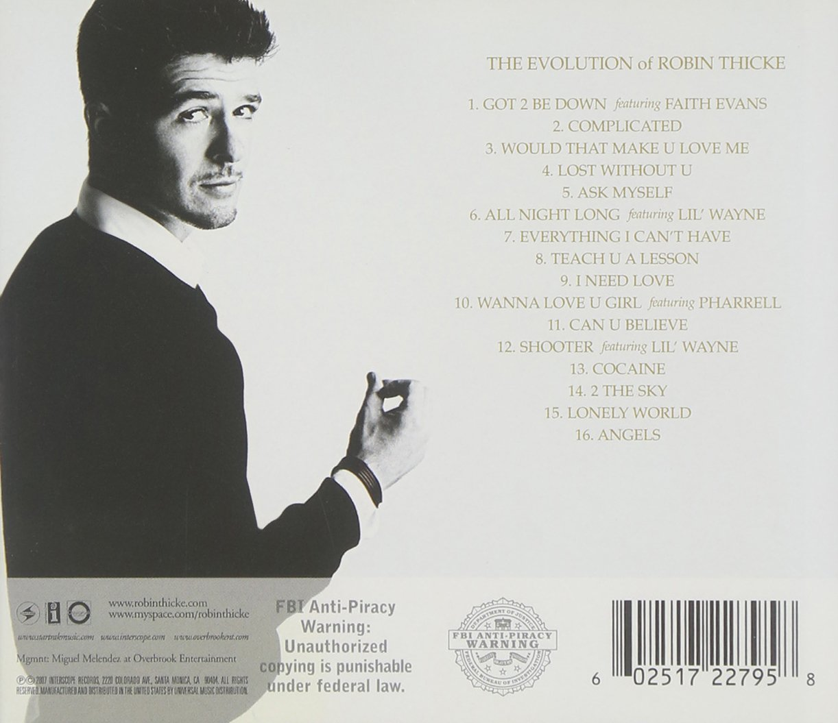 Robin Thicke-The Evolution Of Robin Thicke Full Album Zip