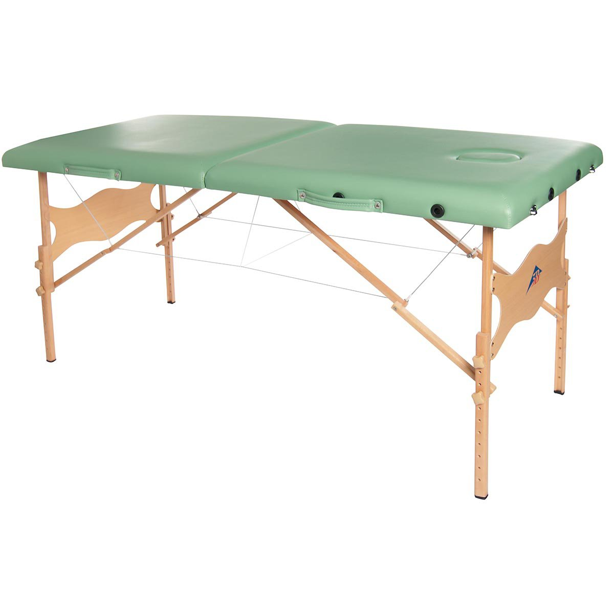 3B Scientific W60601G-1 Wood Basic Portable Massage Table, 550lbs Capacity, 25''-33'' Adjustable Height, Green