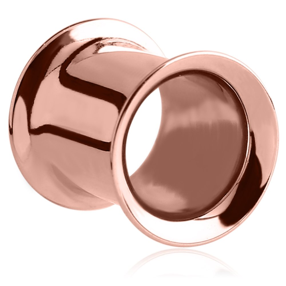 eeddoo Rosegold Steel - Flesh Tunnel - Double Flared 12 mm ...