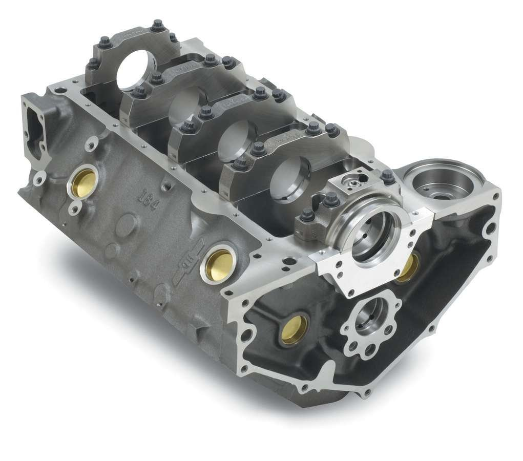 GM Parts (12480047) 4.125' Bore Bowtie Engine Block for Small Block Chevy 350 GM Performance