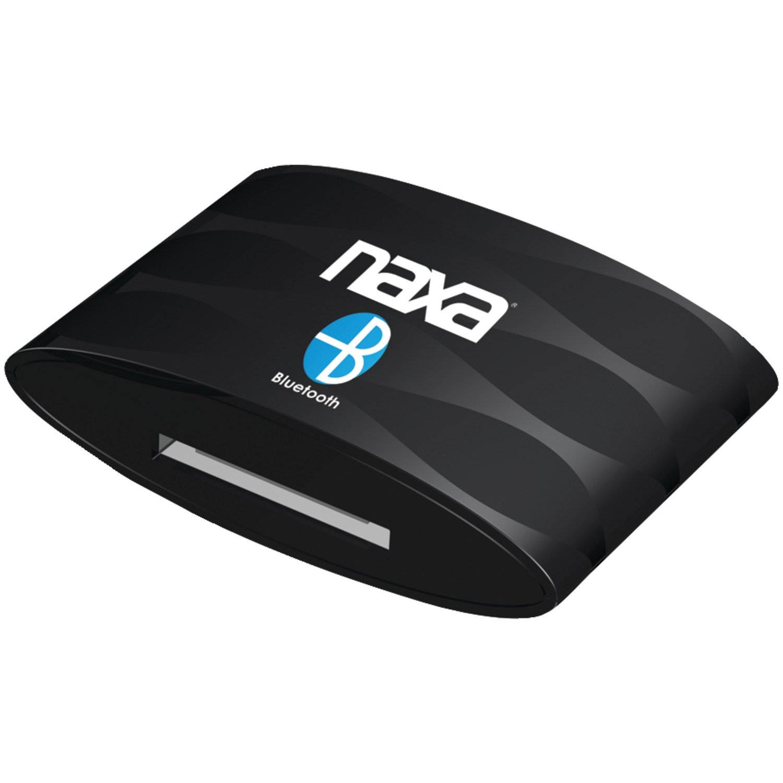 NAXA Electronics NAB Bluetooth Wireless Receiver and Adapter for iPod, iPhone and iPad (Black) by Naxa Electronics