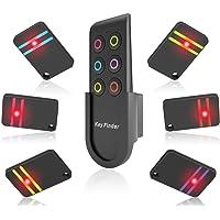 Key Finder, YANX Long Range Location Tracker Wireless Anti-lost Tracking Device Flash Light Key Tracker Alarm Keychain with Holder, 1 RF Transmitter Remote & 6 80dB Loud Fob Receivers