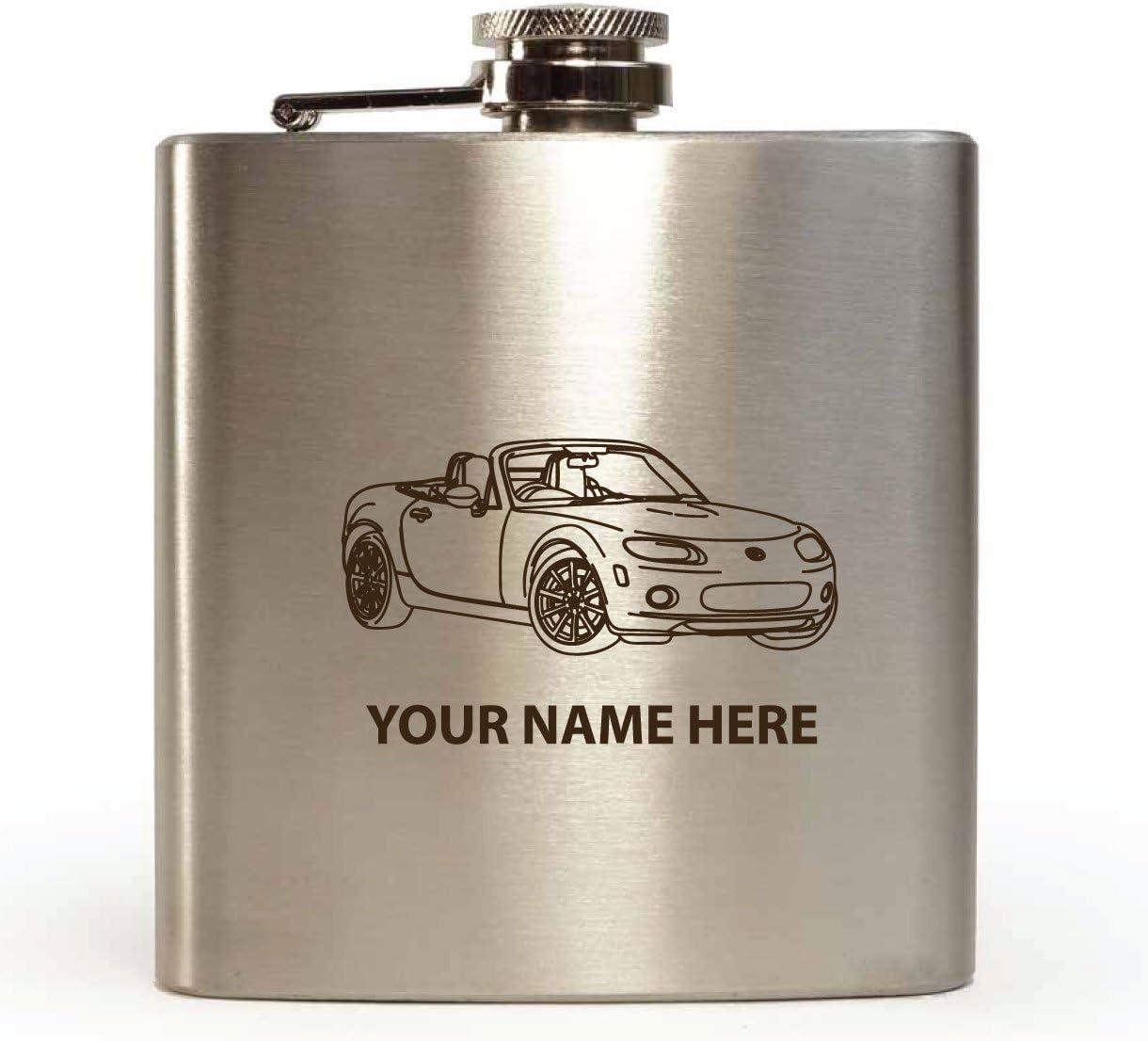Mazda Mx5 Mk3 Design Personalised Hip Flask Funnel With Gift Box Amazon De Kuche Haushalt