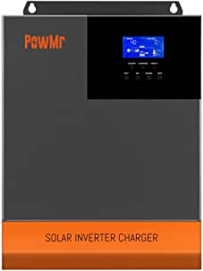 5000W Solar Hybrid Inverter Charger 48V DC to 110V AC, Pure Sine Wave Off Grid Inverter All in One with 80amp MPPT Controller, Max 5000W 500V PV Input ,for 48V Lead Acid/ Lithium Batteries