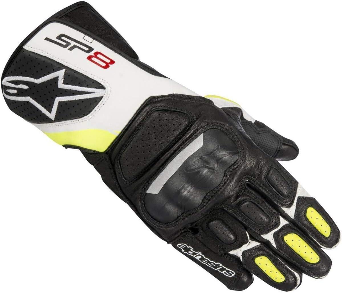 S Alpinestars Gants moto Sp-8 V2 Gloves Black White Yellow Fluo Noir//Blanc//Jaune