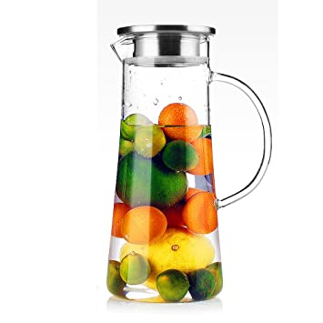 Tamume 15 Liter Wasser Pitcher Obst Wasserkrug Mit Edelstahl Deckel