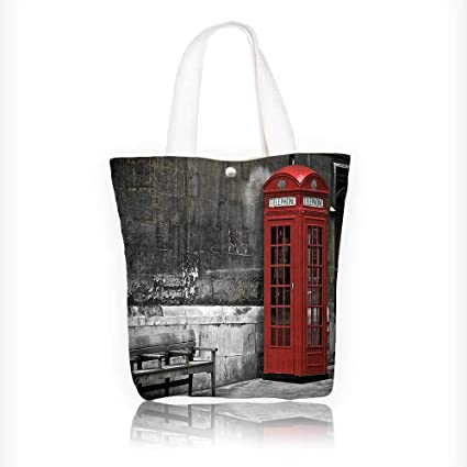 be942efe605c Amazon.com: canvas tote bag Of City With Famous Landmarks Capital ...