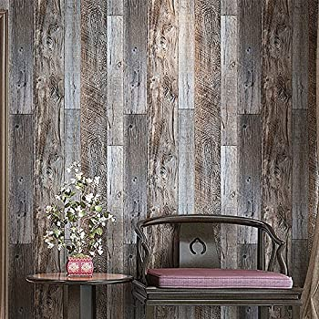 This item Blooming Wall Barnwood Wood Panel Wood Plank Wallpaper Wall Mural  For Livingroom Kitchen Bathroom Bedroom 20 8  x 374   Multicolor. Blooming Wall Barnwood Wood Panel Wood Plank Wallpaper Wall Mural