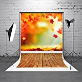 HMT 5X7ft (150cmX220cm)Red Maple Photography Backdrops Brown Wood Floor Background Studio Photo Props