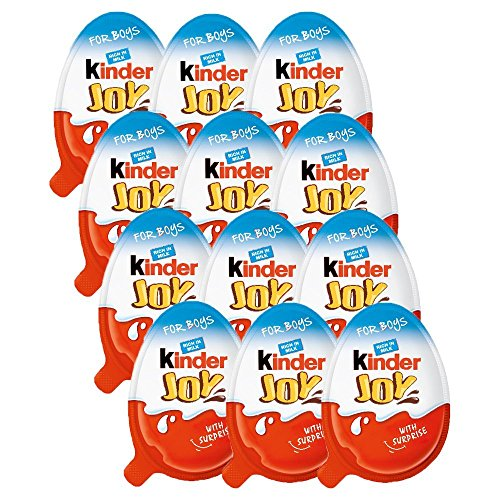 Chocolate Kinder Joy For Boys With Surprise Inside  12 Pack