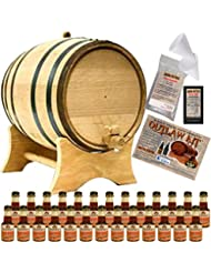 Outlaw Kit From American Oak Barrel Make Your Own Spiced Bourbon 20 Liter Natural Oak With Black Hoops